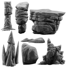 Painting rocks attempt Simon Kopp, an art lead for Ori and the Blind Forest, introduced me this morning to the Rotation feature on my brush settings (only compatible with an Art Pen). It's changed. Zbrush, Concept Art Tutorial, Digital Art Tutorial, Environment Concept Art, Environment Design, Game Level Design, Gundam Art, Cg Art, Matte Painting