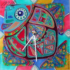 """Часы для дома ручной работы. Ярмарка Мастеров - ручная работа Часы """"В море я одна такая.."""". Handmade."""