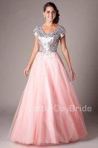 Modest Prom Dresses : Hailey -Modest Mormon LDS Prom Dress