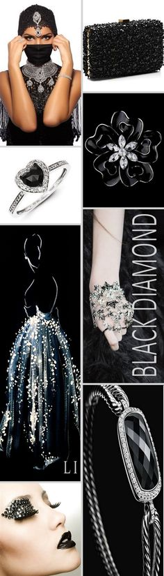 Black Diamond / Lu's Inspiration ღ Mood Colors, Jewel Colors, Jewel Tones, Rose Gold Pink, Purple Yellow, Green And Grey, Aquamarine Blue, Blue Sapphire, Color Collage