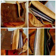 #nieuwe #opdracht is klaar. #leren #handgemaakte #post #tas met veel vakken en een #schouderband. Gemaakt van #vintage #bruin #stoer #leer. Wil jij ook z'on stoere tas, mail dan naar info@http://goo.gl/FfgaNm en bestel.  #leuk #vaderdag #2015 #dutch #design #webshop #shopping #Gigameubel #Soest #bracelets #men #woman #Handmadebyortlep #leather #handstitched http://goo.gl/fIv4rV