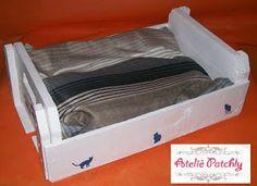 Ateliê Patchly  Caminha para gato - material reciclado