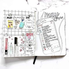 25 technology and social media bullet journal spread layout .- 25 technology and social media bullet journal spread layout ideas