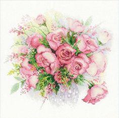"""Вышивка """"Акварельные розы"""""""