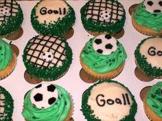 Gooooooaaaalll! - Soccer cupcakes by Grace & Shelly's