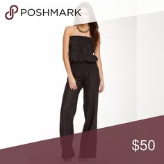 NWT Young Fabulous and Broke Black Linen Jumpsuit Young fabulous and broke Jill Strapless linen jumpsuit. New with tags. Original retail $181 Young Fabulous & Broke Pants Jumpsuits & Rompers