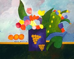 Vase with flowers and fruit / Aldemir Martins