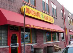 Dinosaur Bar-B-Que, Syracuse, New York. Consistently voted as one of the best BBQ joints in America. Syracuse New York, Rochester New York, Upstate New York, New York Vacation, Vacation Trips, Vacations, Food Places, Places To Eat, New York Bucket List