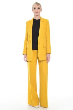 Blazer in alpaca, giallo - Diffusione Tessile