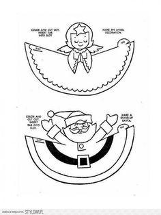 Ангел и Санта Клаус из бумаги - делаем с детьми или кладем в задания адвент-календаря