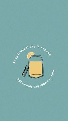 Keep It Sweet Like Lemonade Matt Wertz Wallpaper #iphone #mattwertz #summer #wallpaper #iphonewallpaper #iphonebackground #background #lemonade