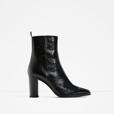 ZARA - COLLECTION SS/17 - LEATHER HIGH HEEL ANKLE BOOTS
