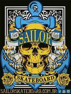 Adesivo #SailorSkateboard - Skull Possessed