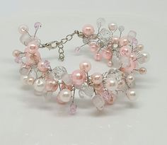 Check out this item in my Etsy shop https://www.etsy.com/listing/483360289/pink-bridal-crochet-braceletbridal
