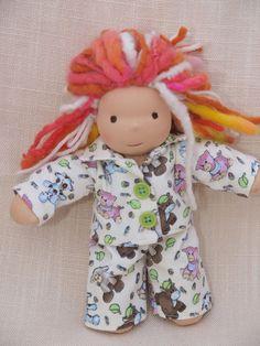 Waldorf Doll Clothes-Two piece Doll Creamy by ToysWorkshopWE