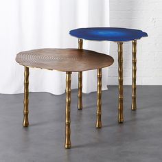 bronze and atol bamboo bunching side tables | CB2 by Matthew Williamson