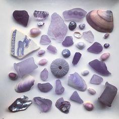 "Fiona or Fi (@fifi3058) on Instagram: ""Lavender hues from the sea#seaglass #seafinds #seatreasures #beachglass #beachfinds…"""