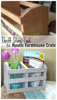 DIY Rustic Farmhouse Crate (from a Thrift Store Find!) - Refresh Living