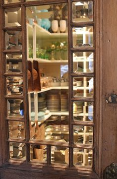 Romancing the Home~Love this dish pantry