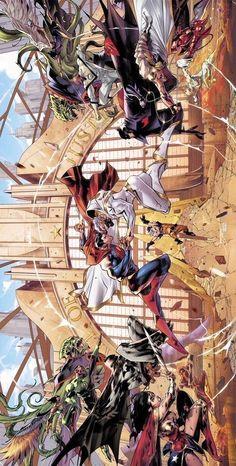 Justice League by Jorge Jimenez, colours by Alejandro Sanchez * - DCcomics Arte Dc Comics, Dc Comics Superheroes, Dc Comics Characters, Mundo Superman, Thanos Avengers, Univers Dc, Comics Universe, Detective Comics, Comic Books Art