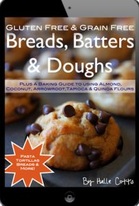 Breads, Batters and Doughs -- alternative flours, gluten free (recommended by Coconut Mama)