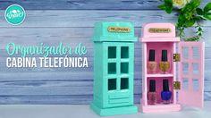 DIY Organizador de cabina Telefónica Inglesa con cartón  | DREEN