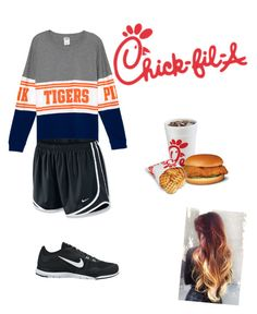 """""""at chickfla"""" by ponyboysgirlfriend ❤ liked on Polyvore featuring NIKE"""