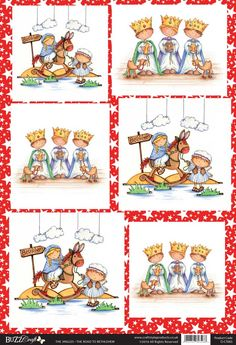 Buzzcraft The Jingles Christmas die cut toppers - The Road to Bethlehem, cute nativity