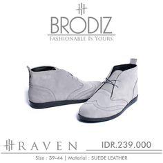 Brodiz Raven, Warna: Grey, Size : 39-44 Untuk Pemesanan Online Kunjungi : www.rockford-footwear.com *Gratis pengiriman ke seluruh Indonesia Email: contact@rockford-footwear.com Pin : 525B26DF Atau...