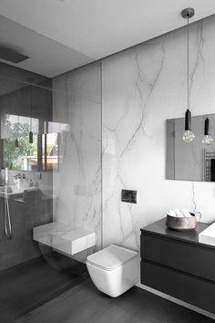 Urban House by Studio Makom - Interior bathroom Bathroom shower Bathroom tiles de bano moderno elegante Bathroom Design Luxury, Bathroom Layout, Modern Bathroom Design, Modern Marble Bathroom, Small Bathroom, Master Bathrooms, Bad Inspiration, Bathroom Inspiration, Bathroom Renos
