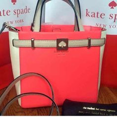 """Kate Spade Houston Street Leo Handbag Kate Spade Houston Street Leo 100% authentic with duster, care card, and original tag Color: Hot Rose 14-karat light gold plated hardware and protective metal feet Open top satchel bag with magnetic snap Magnetic closure drop length: 4.5"""" handles Longer adjustable and detachable strap Longer strap for shoulder or crossbody wear 21-22"""" adjustable removable crossbody strap Measures 11"""" (L) x 8.5"""" (H) x 4.5"""" (W) Comes from a pet and smoke free environment…"""