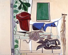 The Shed with Garden Tools, By Françoise Gilot (France, born Oil on board. Francoise Gilot, French Artists, Pablo Picasso, Garden Tools, France, Oil, Contemporary, Board, Painting