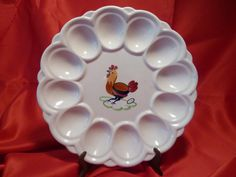 CHICKEN Deviled Egg Plate.  Made in France.  by RagstersVintage, $21.00