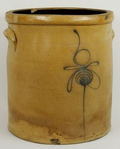 Bee Sting Crock | Antique Stoneware Blue Slip Decorated Bumble Bee Sting Crock | eBay