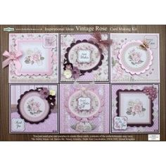 The Hobby House Vintage Rose Floral Card Making Kit (UK delivery only) - The Hobby House from The Hobby House UK Floral Card, Card Making Kits, Hobby House, House Of Cards, Ditsy Floral, Distress Ink, Vintage Roses, Cardmaking, Embellishments