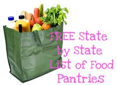 FREE Food Pantries By State -- Click on the image above to read the full article. (Source: www.aproverbswife.com)