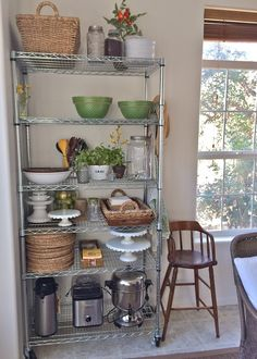 So I created one. as you scroll through the photos you need to know that editing them takes a ton of time. So in keeping with . Kitchen Buffet, Kitchen Rack, Kitchen Shelves, Kitchen Pantry, New Kitchen, Kitchen Dining, Kitchen Decor, Kitchen Appliances, Kitchen Organisation