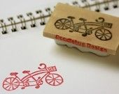 Hand Carved Stamp Tiny Tandem Bicycle by doodlebugdesign on Etsy Handmade Stamps, Handmade Gifts, Bicycle Wedding, Tandem Bicycle, Etsy Uk, Hand Carved, Place Card Holders, Carving, Crafty