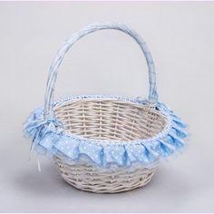 Cesta Bebé Azul con Lunares. En varios tamaños, desde 17,95 € PVP