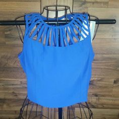 Andree crop top. Size large. Beautiful royal blue crop top. Size large. NWT. Andree Tops Crop Tops