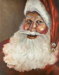 Traditional Santa Acrylic Print by Sheila Kinsey Christmas Scenes, Christmas Items, Christmas Art, Christmas Things, Christmas Decorations, Vintage Christmas Images, Victorian Christmas, Christmas Pictures, How To Draw Santa