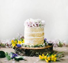 coconut tres leches cake by Beth Kirby.I love naked cakes! Naked Wedding Cake, Beautiful Wedding Cakes, Beautiful Cakes, Food Cakes, Cupcake Cakes, Gâteau Tres Leches, Princess Cake Toppers, Local Milk, Naked Cakes
