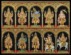 Photo: DASH AVATAR OF BHAGAWAN VISHNU , TEN INCARNATION OF THE SUPREME POWER .