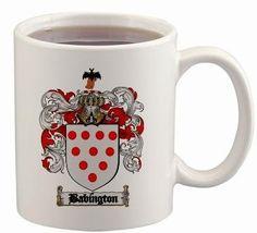 Babington Coat of Arms Mug / Family Crest 11 ounce cup $15.99