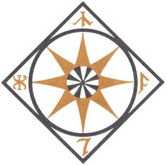 Compass Symbol from the Atlas of Middle Earth - J.R.R. Tolkien
