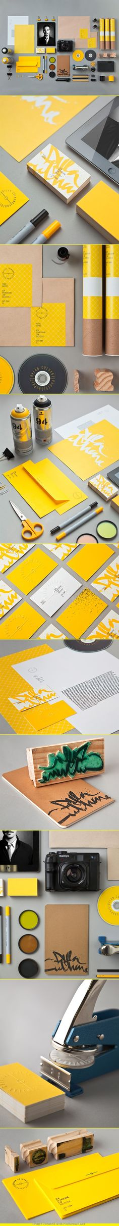 #17: Dylan Cuhane photographer identity design. The bold color choice allows this photographer to 'get attention' with his solution. Once again we see the seal used (quite pricey) as the logo. However we see two logos here, one as a seal and the other as a handwritten stamp. Although I love the solution, I wonder if it's problematic in the branding aspect since there's kind of two logos going on. As the module mentioned, handwriting one's font can be most beneficial as we see this example…