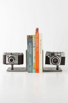 Vintage Camera Bookends - Anthropologie.com