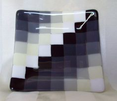 Black grey vanilla & white squares fused by DizzyDistractions, $36.00