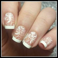 """Stamping plate """"love and marriage from Mani Pedi, Nail Manicure, Pedicure, Nail Polish, Bride Nails, Wedding Nails, Stamping Plates, Nail Stamping, Hello My Love"""