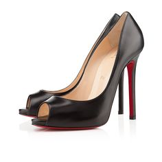 Lovely Flo 120mm Peep Toe Pumps Black Red Sole Shoes New Cheap High-end Christian Louboutin Best Quality Big Discount